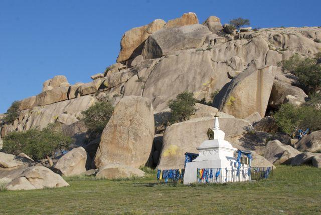 The white stupa