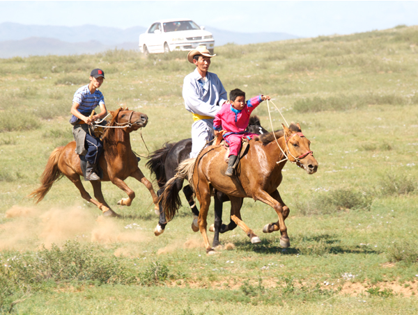 The youngest riders were accompanied by at least one adult the whole way
