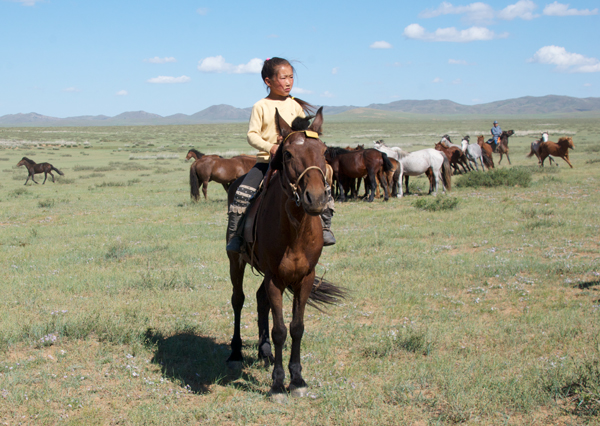 Just love this photo of a young Mongol girl