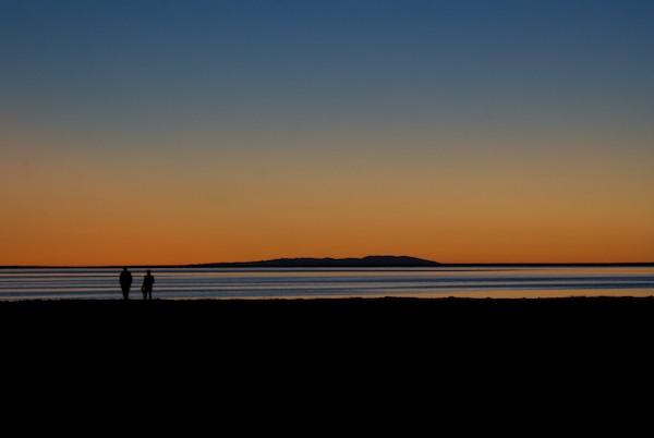 Sharon and Odna enjoy the sunset