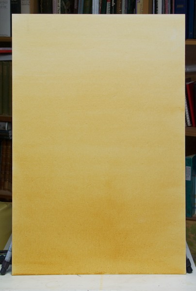 The Raymar canvasboard panel tinted with raw sienna