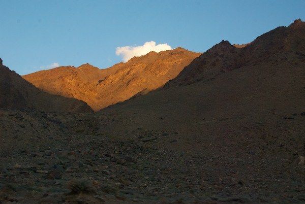 As we continued down the canyon, it was magic light time on the mountaintops.