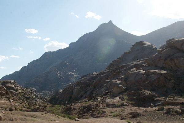 The view of the main summit from our campsite.