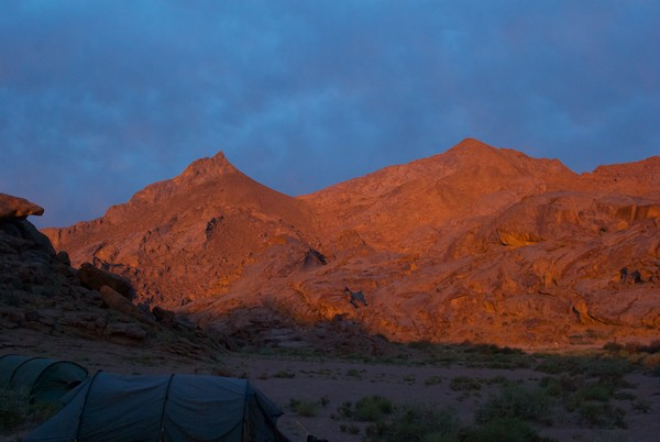 I crawled out of my tent the next morning and was greeted with this incredible sunrise.