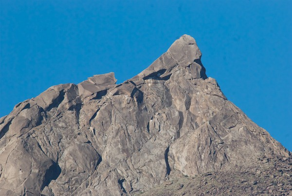 During a short stop as we drove on, I got a shot of the very top of the main summit of this very special mountain.