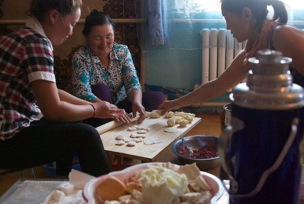Not only did we get an amazing lunch, but the women made buuz for us to take with us.