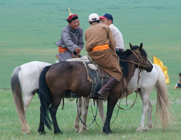 Mongol horse trainers