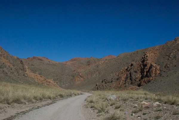 We wen up into another rugged pass.