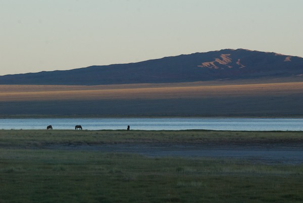 We had seen the lake Ikhes Nuur when we drove into town and decided to see if it would be a good place to camp. It was.