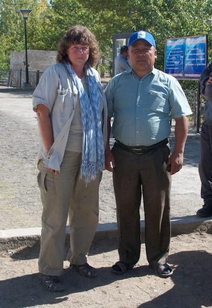 Myself and Batsaikhan Baljiinnayam, the Saiga Ranger Network coordinator