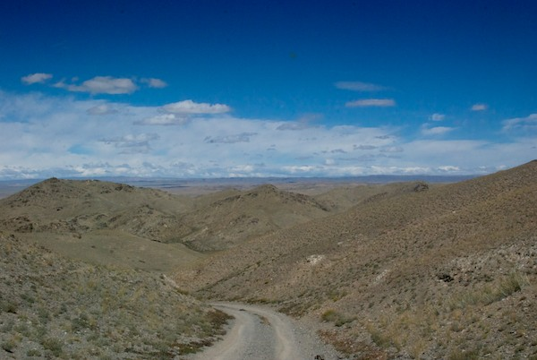 Once past the ovoo, this view stretched before us.