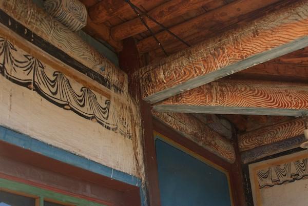 Old temple interior.