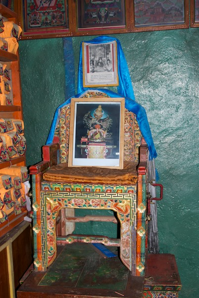 Lama throne.