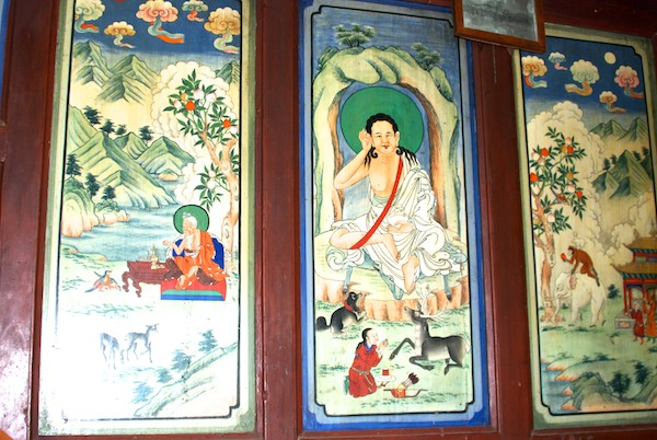 Wall paintings.