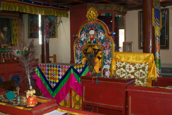 Altar in the new temple.
