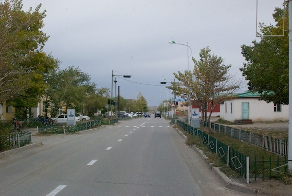 Typical street scene in Altay.