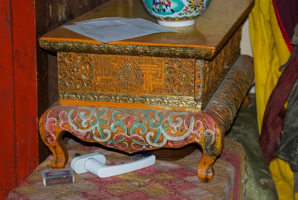Old table with stunning lacquer work.