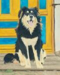 "Bankhar (Mongol Dog)  oil 20x16"""
