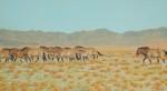 """Moving the Harem, Takhiin Tal  oil  20x36"""""""