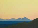 "Sunset, Eej Hairhan Uul  oil  18x24"""