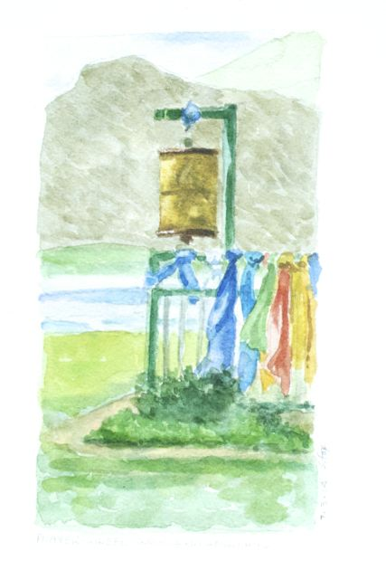 Prayer wheel at