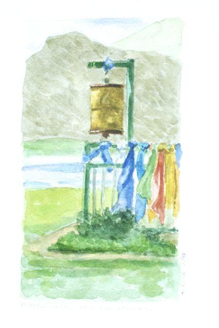 Prayer wheel at