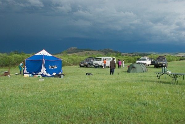 We returned to camp and found that a violent storm had come through while we were gone.