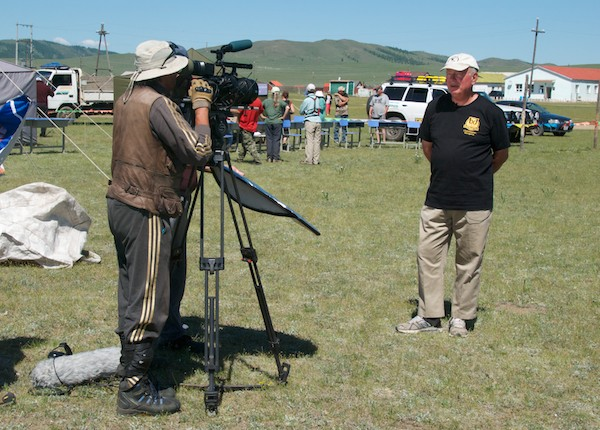 Dr. Archibald doing a filmed interview