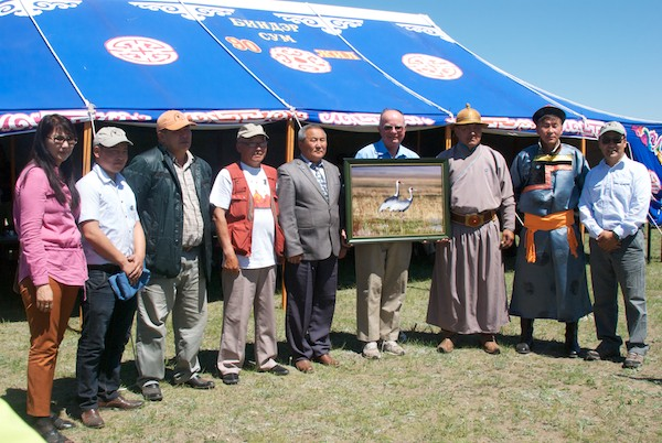 Dr. George Archibold. Founder of the International Crane Foundation, was honored at the opening ceremony.