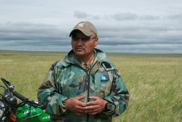 This is Batmunkh, one of the six rangers who patrol the reserve.