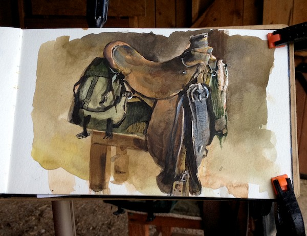 Saddle study by James Gurney