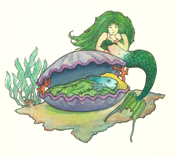 Do fish sleep? The mermaid thinks so.