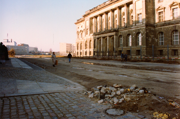 Another view of the site of  Gestapo headquarters, which had been leveled.