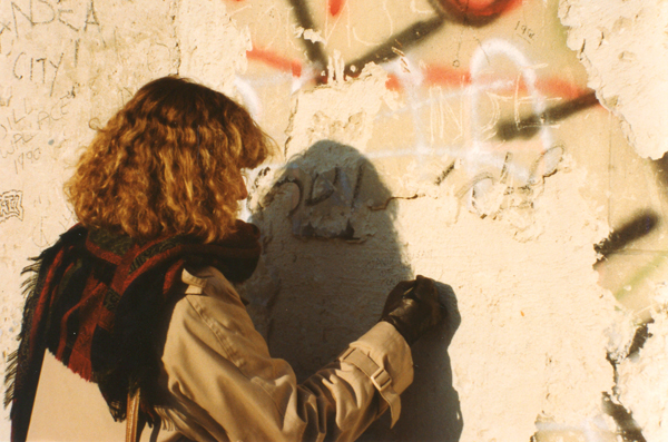 Me writing on the Wall.