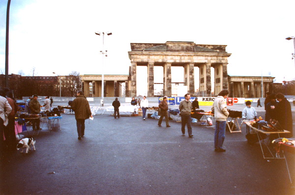The scene around the Brandenburg Gate.