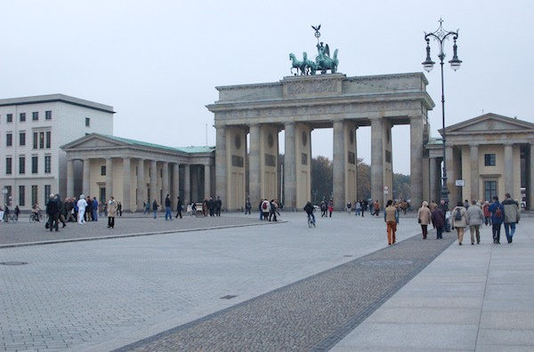 The Brandenburg Gate on a return trip to Berlin in October 2004.
