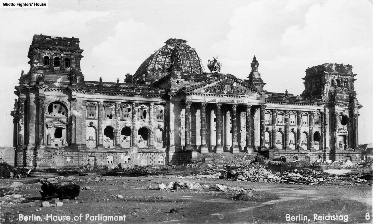 The Reichstag after the end of the War.