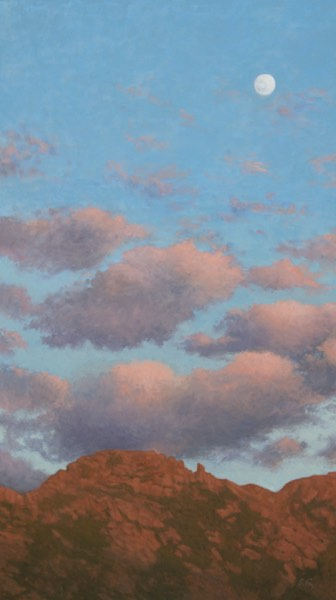 Sunset, Khogno Khan  oil 30x17""