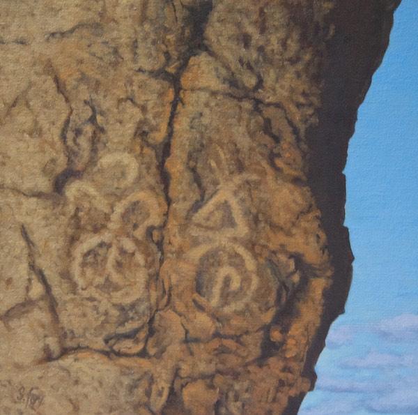"""Petroglyphs, Ikh Nartiin Chuluu""  oil  12x12"""