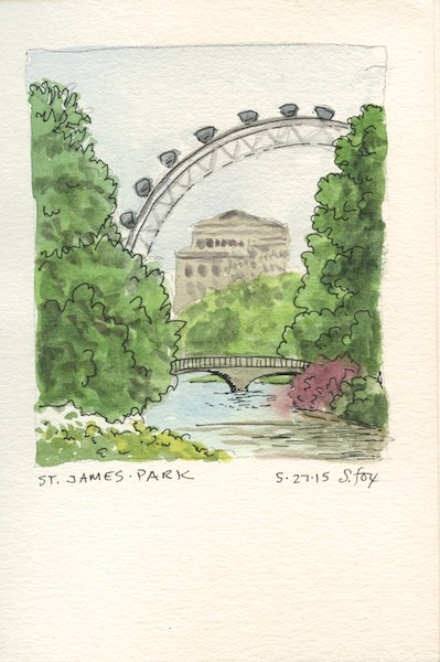 A view of the London Eye from St. James Park