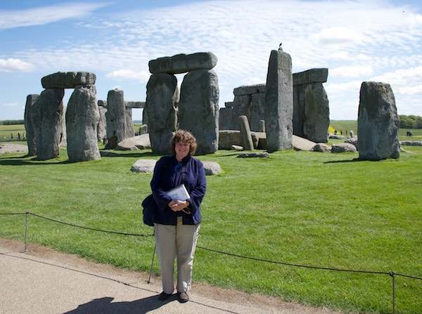 With my sketchbook at Stonehenge
