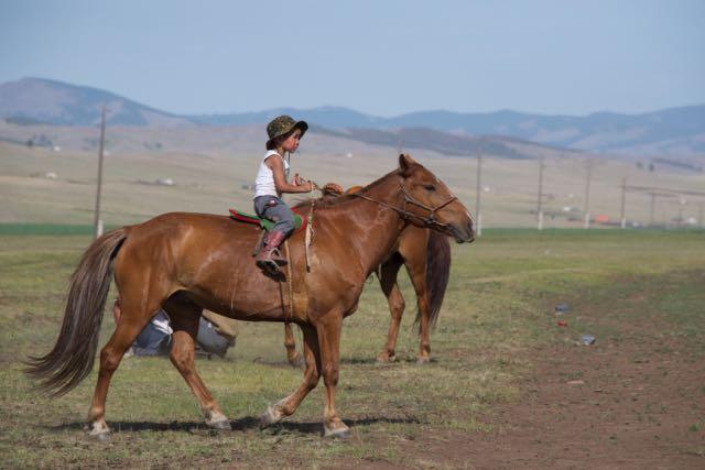 Very young horseman