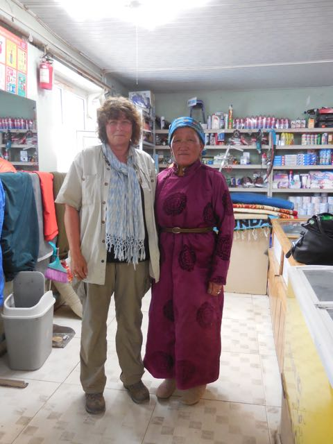 A woman named Tsendayush who I met in one of the shops