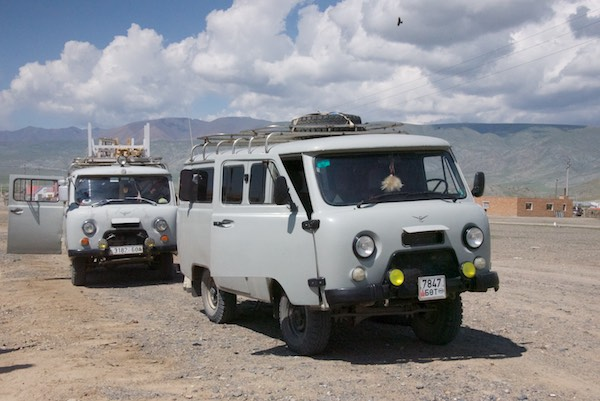 Russian Fergon vans, the vehicle of choice, and necessity, when heading out into the deep countryside