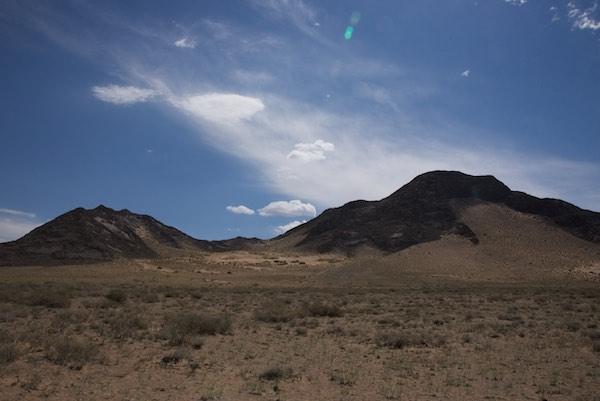 Black rock mountains