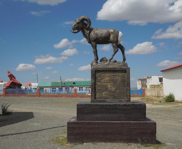 Argali statue