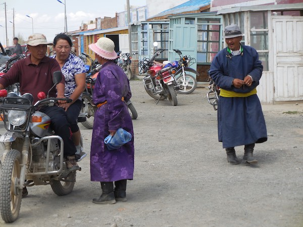 Local people who have come to town