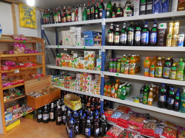 Beverages, including fruit juices and beer