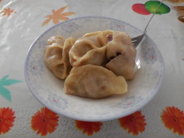 Buuz, which are steamed mutton dumplings