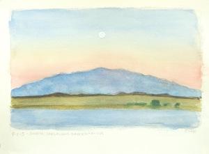 Sunrise, Jargalant Hairhkan Uul from Khar Nuur, Khar Us Nuur National Park